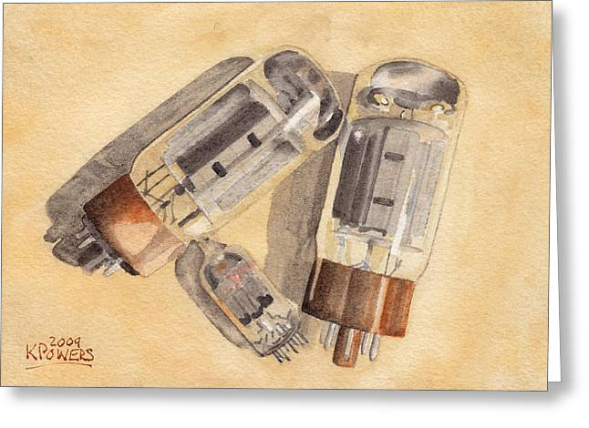 Amplifier Greeting Cards - Tubes Greeting Card by Ken Powers