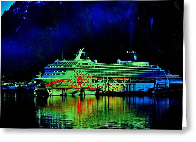 Cruise Vacation Greeting Cards - Tucked In Greeting Card by Helen Carson