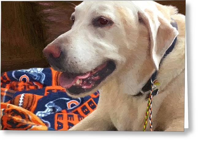 Labrador Retriever Digital Art Greeting Cards - Tucker Greeting Card by Doug Kreuger