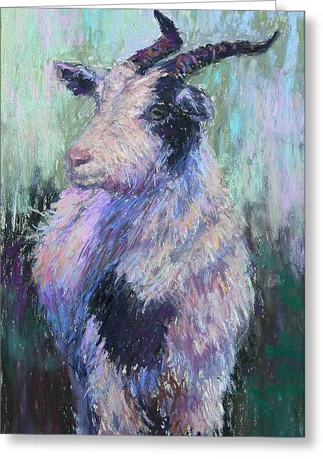 Farm Animals Pastels Greeting Cards - Tucker Redux Greeting Card by Susan Williamson
