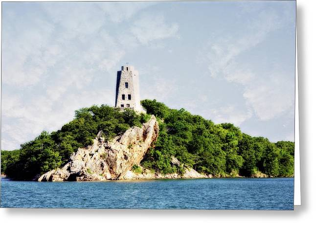 Tucker Tower Greeting Card by Lana Trussell
