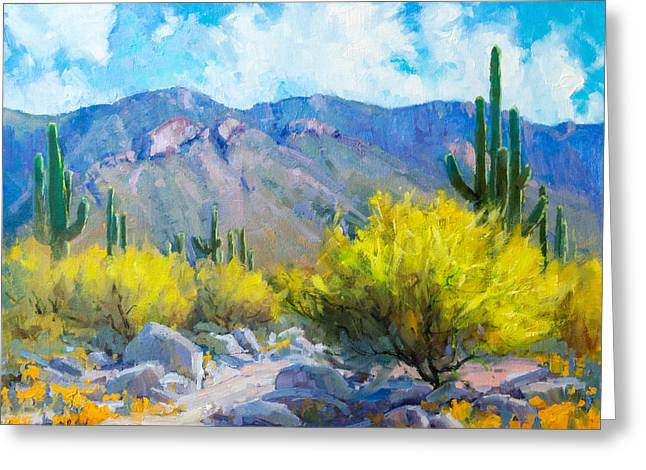 Tucson Mountains Greeting Card by Becky Joy