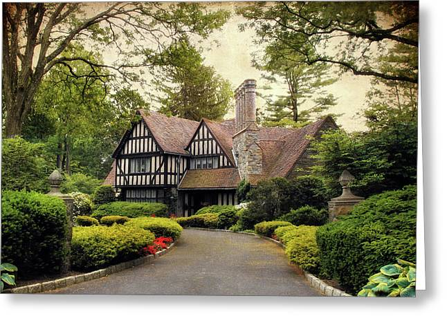 Tudor Home Greeting Card by Jessica Jenney