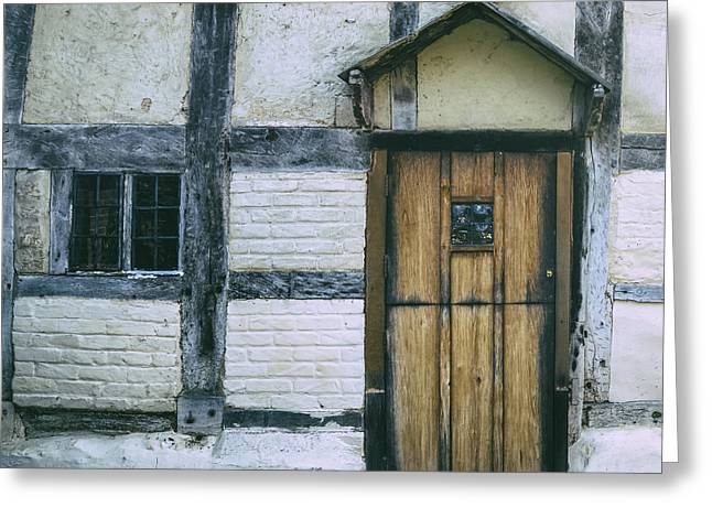 Half-timbered Greeting Cards - Tudor House Greeting Card by Joana Kruse