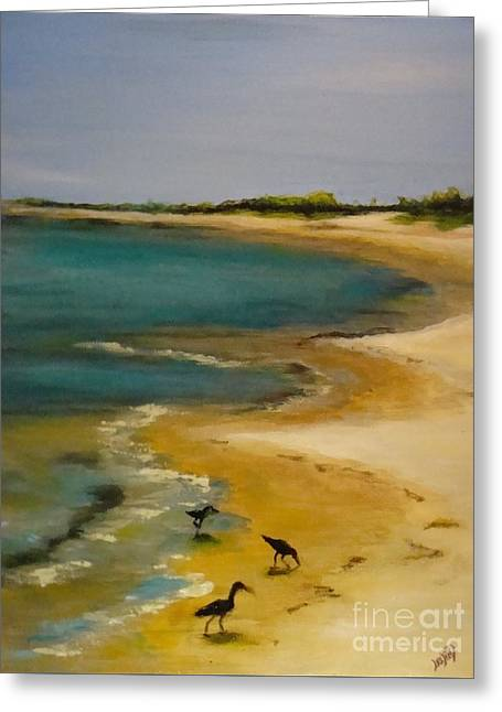 Island Greeting Cards - Tuesday morning at Horn Island Greeting Card by Leslie Dobbins