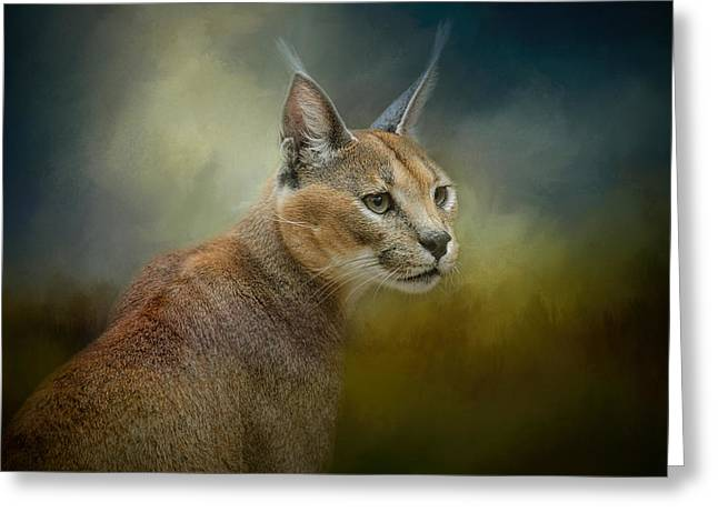 Wildcats Greeting Cards - Tufted Ears Greeting Card by Jai Johnson