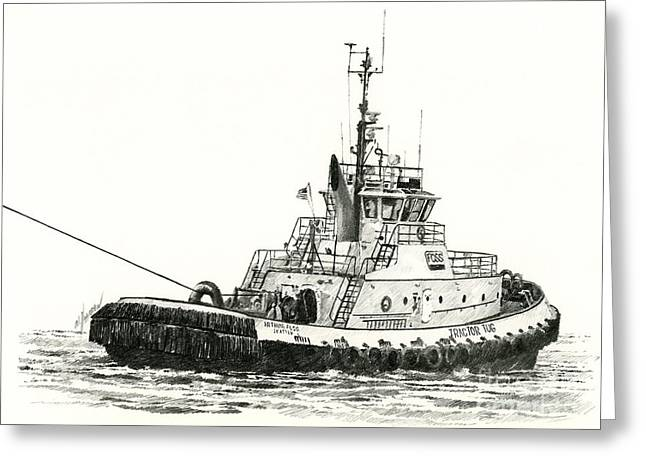 Tugboat Arthur Foss Greeting Card by James Williamson