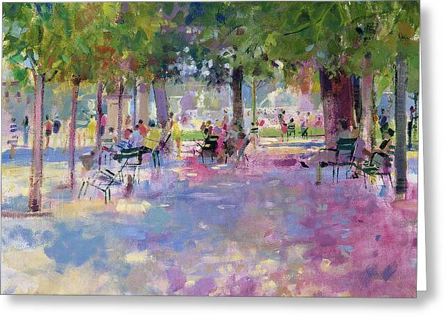 Tuileries  Paris Greeting Card by Peter Graham