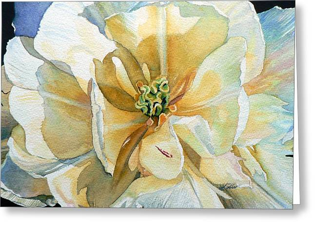 Tulip Intimate Greeting Card by Hanne Lore Koehler