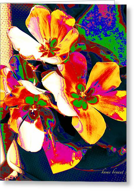 Tulip Kisses Abstract 7 Greeting Card by Kume Bryant