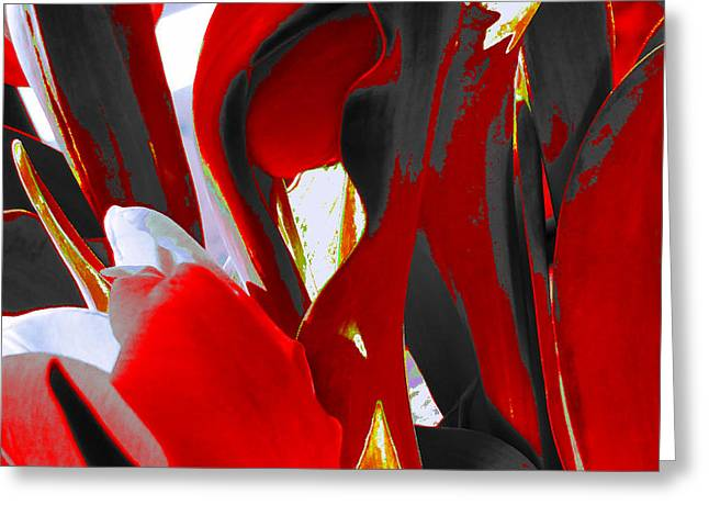 Tulip Kisses Abstract 8 Greeting Card by Kume Bryant