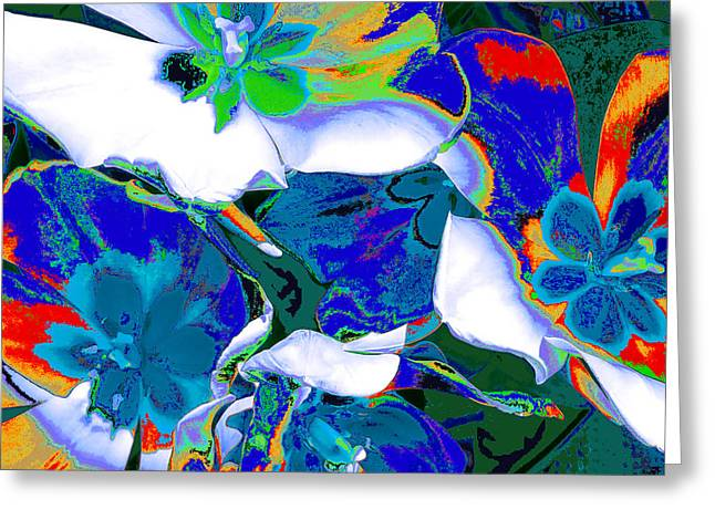 Tulip Kisses Abstract 9 Greeting Card by Kume Bryant