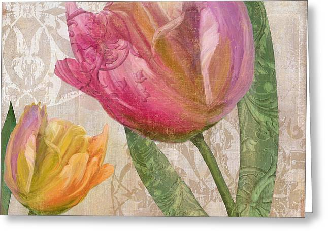 Dragonflies Greeting Cards - Tulip Tempest II Greeting Card by Mindy Sommers