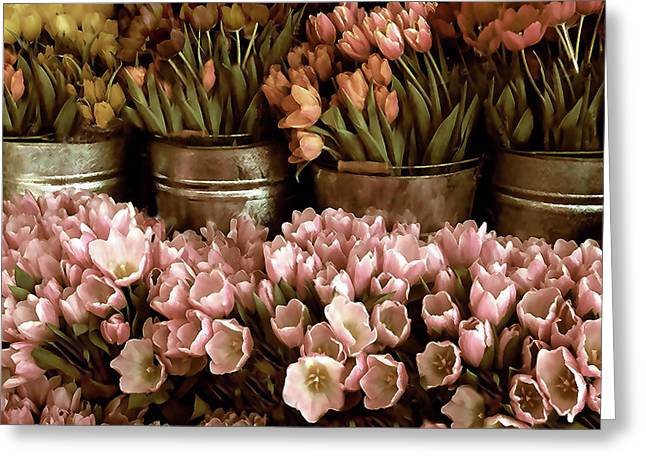 Tulip Petals Greeting Cards - Tulip Tones Greeting Card by Jessica Jenney