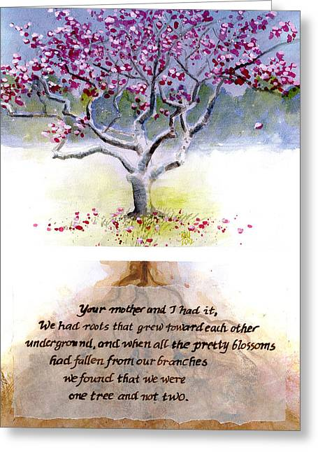 Tulip Tree With Poem Greeting Card by Ken Meyer jr