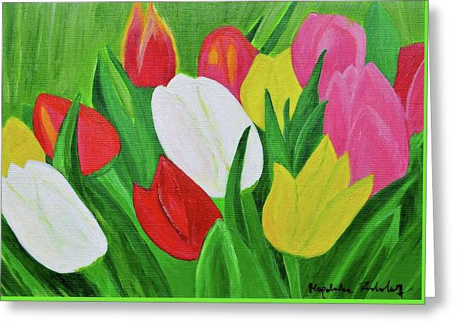 Tulips 2 Greeting Card by Magdalena Frohnsdorff