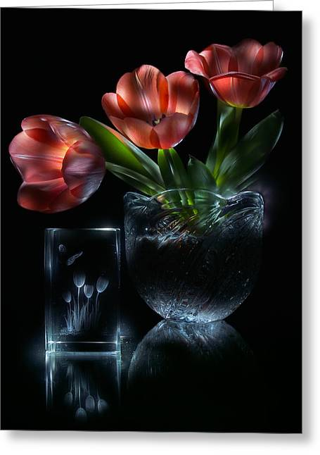 Tulips Greeting Card by Alexey Kljatov