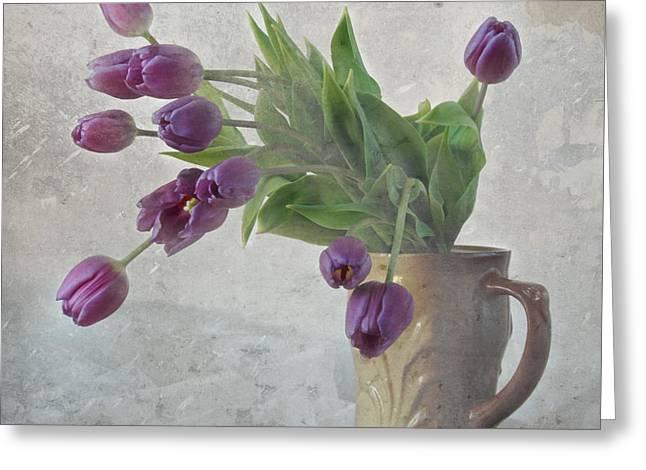 Tulips Greeting Card by Irina No