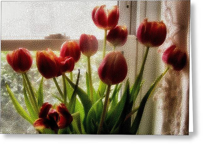 Tulips Greeting Card by Karen M Scovill