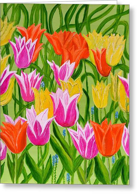 Tulips Greeting Card by Magdalena Frohnsdorff