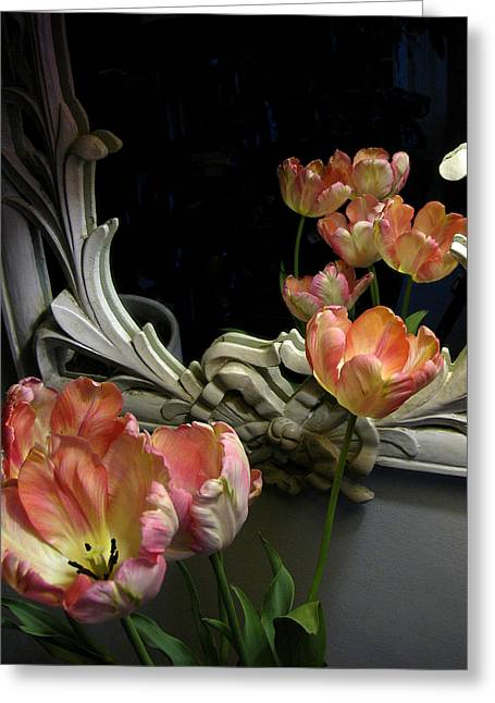 Tulips Greeting Card by Vari Buendia