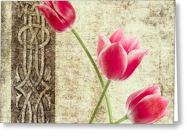 Tulips Vintage  Greeting Card by Mark Ashkenazi