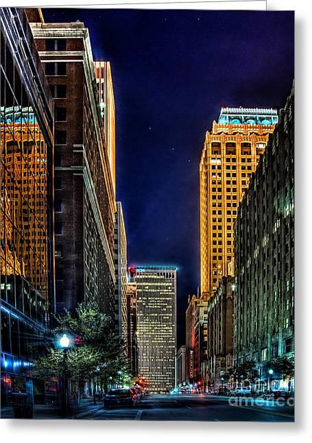 Tamyra Ayles Photographs Greeting Cards - Tulsa Nightlife Greeting Card by Tamyra Ayles