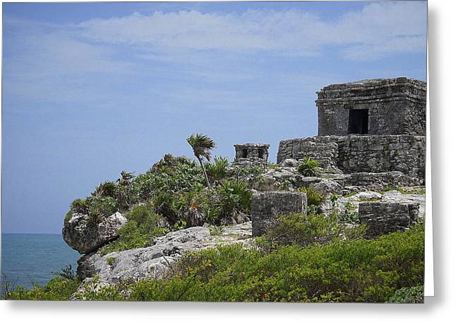 Religious Greeting Cards - Tulum Greeting Card by Laurie Perry