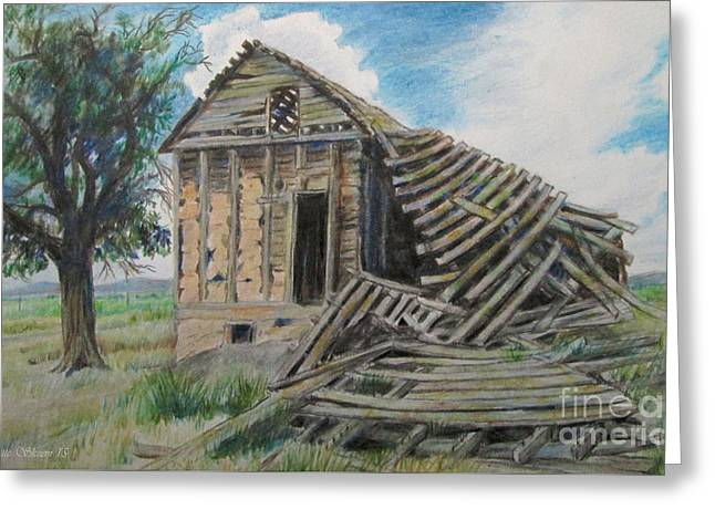 Tumbled Down House Greeting Card by Jeanette Skeem
