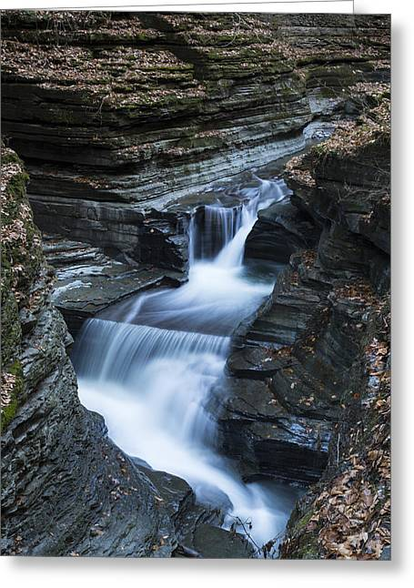 Tumbling Waters Greeting Card by Stephen Stookey