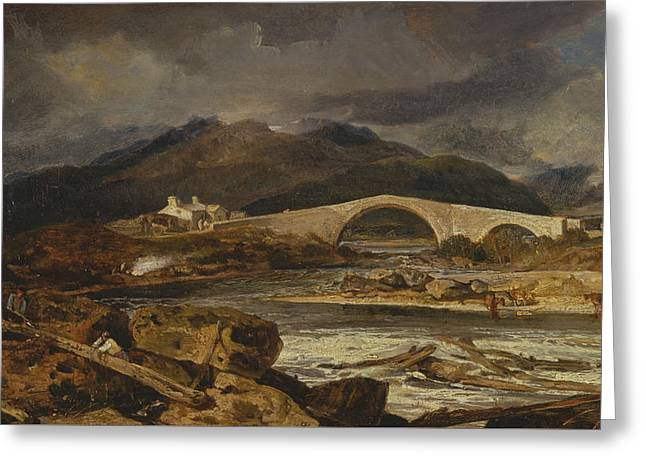 Tummel Bridge Perthshire Greeting Card by Joseph Mallord William Turner