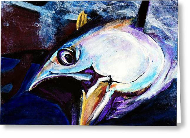 Snorkel Mixed Media Greeting Cards - Tuna III Greeting Card by Maria Boudreaux