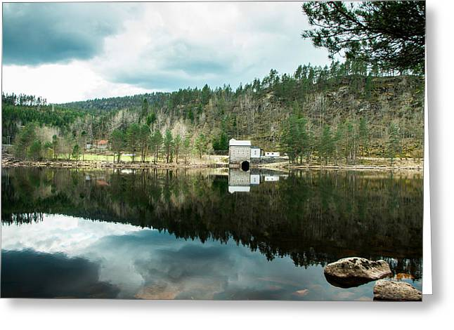 Noregur Greeting Cards - Tungefoss kraftverk i Bjelland Greeting Card by Mirra Photography