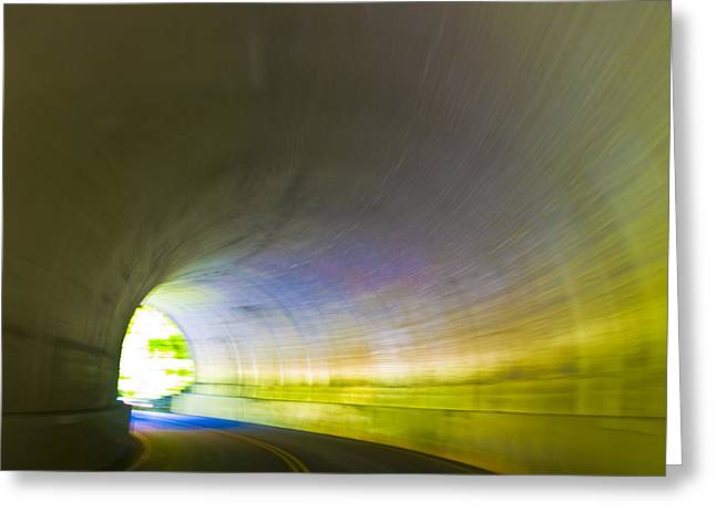 Recently Sold -  - Smokey Mountain Drive Greeting Cards - Tunnel #1 Greeting Card by Terry Anderson