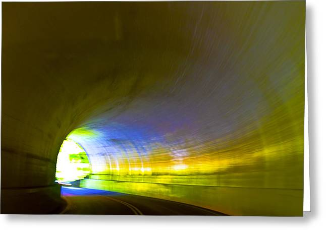 Recently Sold -  - Smokey Mountain Drive Greeting Cards - Tunnel #2 Greeting Card by Terry Anderson