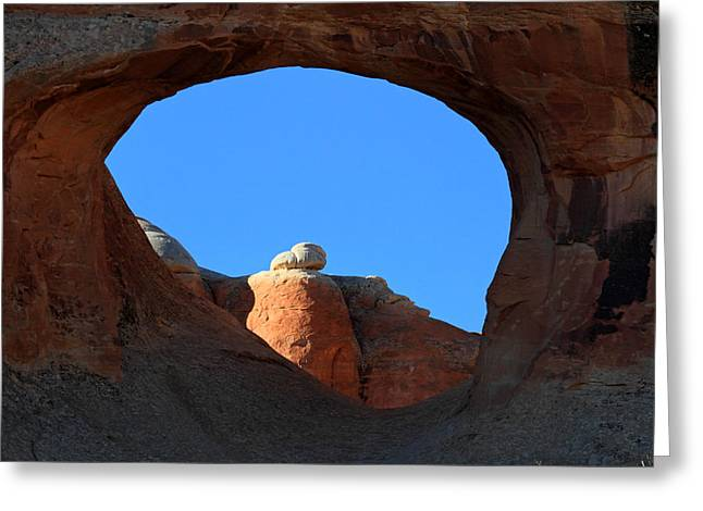 Arches National Park Pine Trees Greeting Cards - Tunnel Arch in Arches National park Greeting Card by Pierre Leclerc Photography