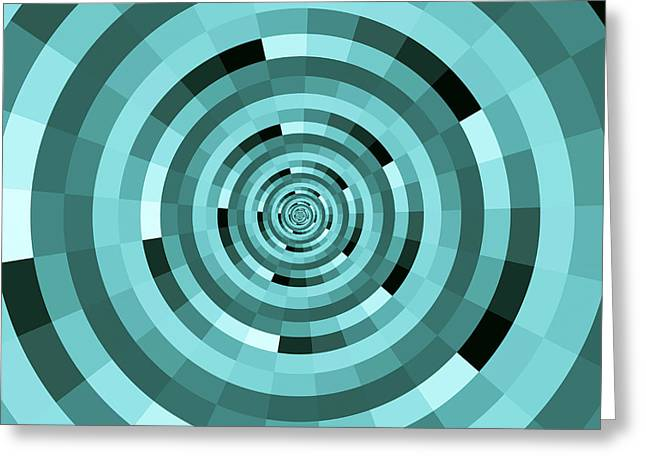 Tunnel Circles Greeting Card by Juergen Faelchle