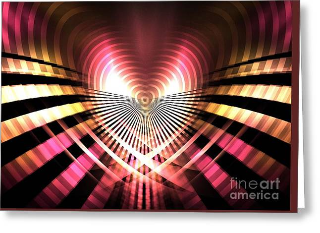 Office Space Greeting Cards - Tunnel Heart Greeting Card by Kim Sy Ok