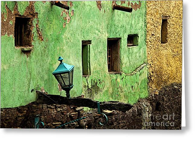 Portal Greeting Cards - Tunnel Lamp Greeting Card by Olden Mexico