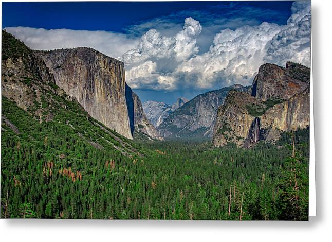 Tunnel View Greeting Cards - Tunnel View in Springtime Greeting Card by Rick Berk
