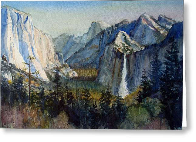 Tunnel View Yosemite Valley Greeting Card by Howard Luke Lucas