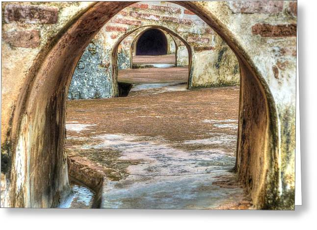 Tunnel Vision Greeting Card by Michael Garyet