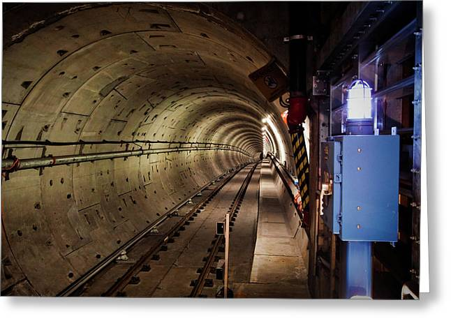Electric Train Greeting Cards - Tunneling Greeting Card by Patrick English