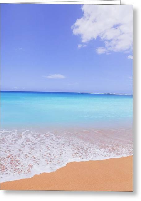 Tunnels Beach In Kauai Beach Landscape Photography 2 Greeting Card by Ariane Moshayedi
