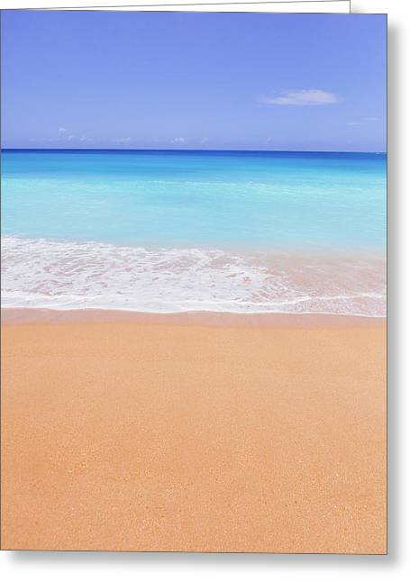 Tunnels Beach In Kauai Beach Landscape Photography Greeting Card by Ariane Moshayedi