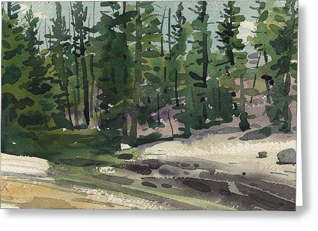 Yosemite Paintings Greeting Cards - Tuolumne River Greeting Card by Donald Maier