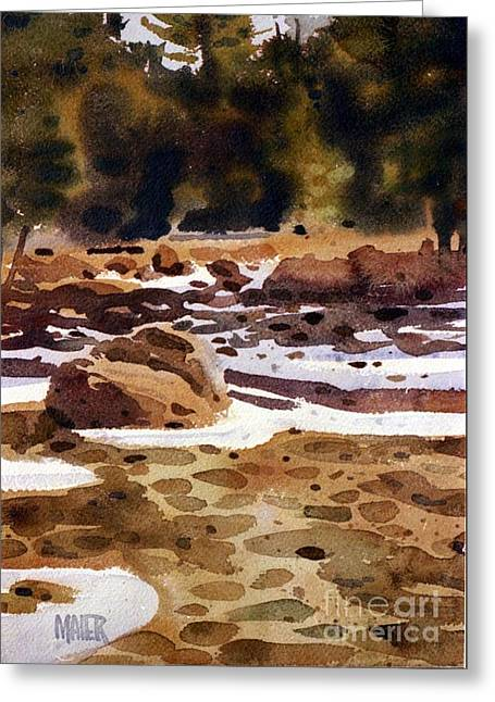 Tuolumne River Freeze Greeting Card by Donald Maier