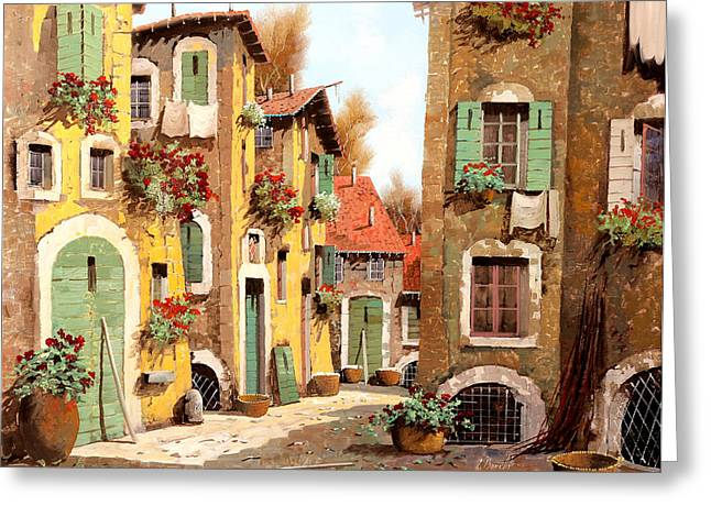 Village Greeting Cards - Tuorlo Greeting Card by Guido Borelli