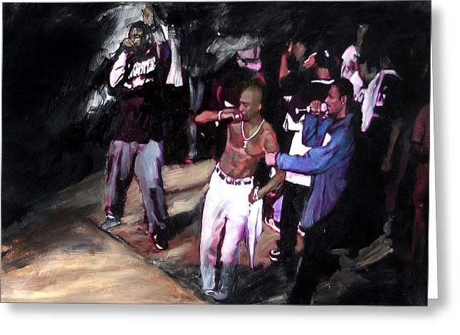 Eminem Paintings Greeting Cards - Tupac Amaru Shakur 3 Greeting Card by Jani Heinonen