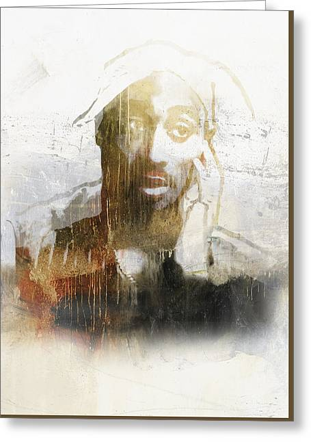 Pop Singer Greeting Cards - Tupac Graffitti 27 Greeting Card by Jani Heinonen